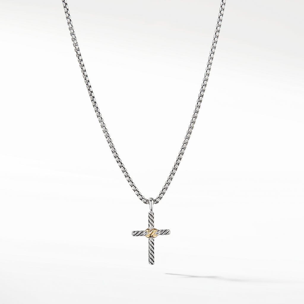 Cross Necklace with 14K Gold