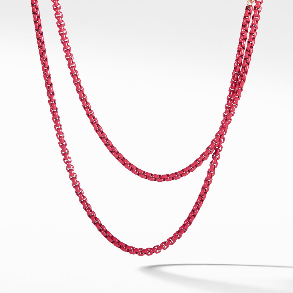 DY Bel Aire Chain Necklace in Coral with 14K Rose Gold Accents