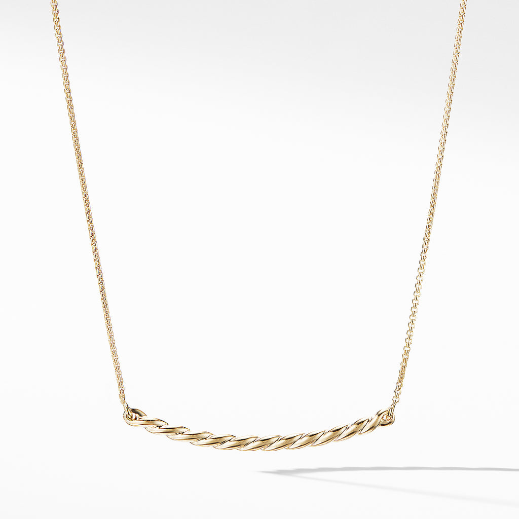 Paveflex Station Necklace in 18K Gold