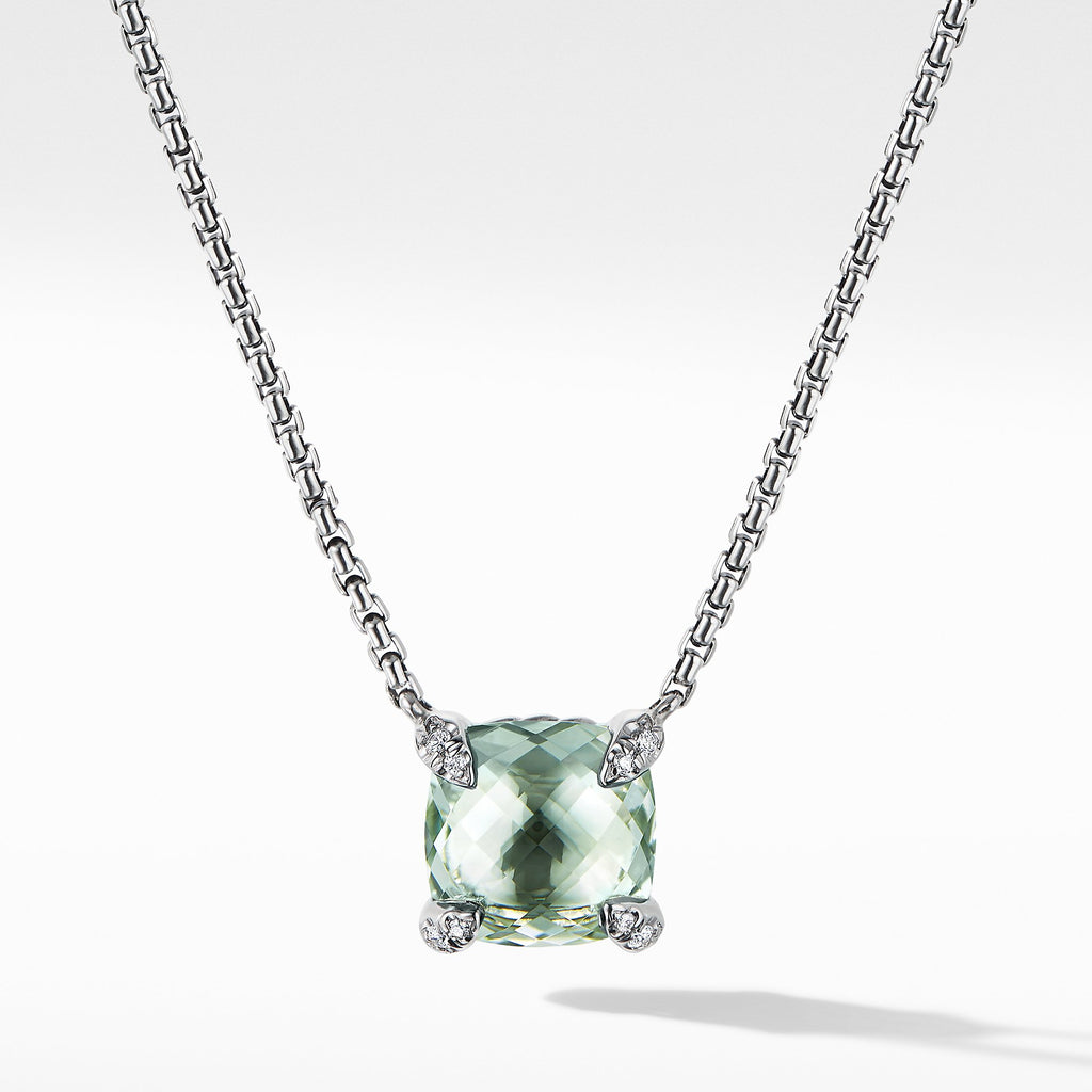 The Châtelaine® Collection Pendant Necklace with Prasiolite and Diamonds