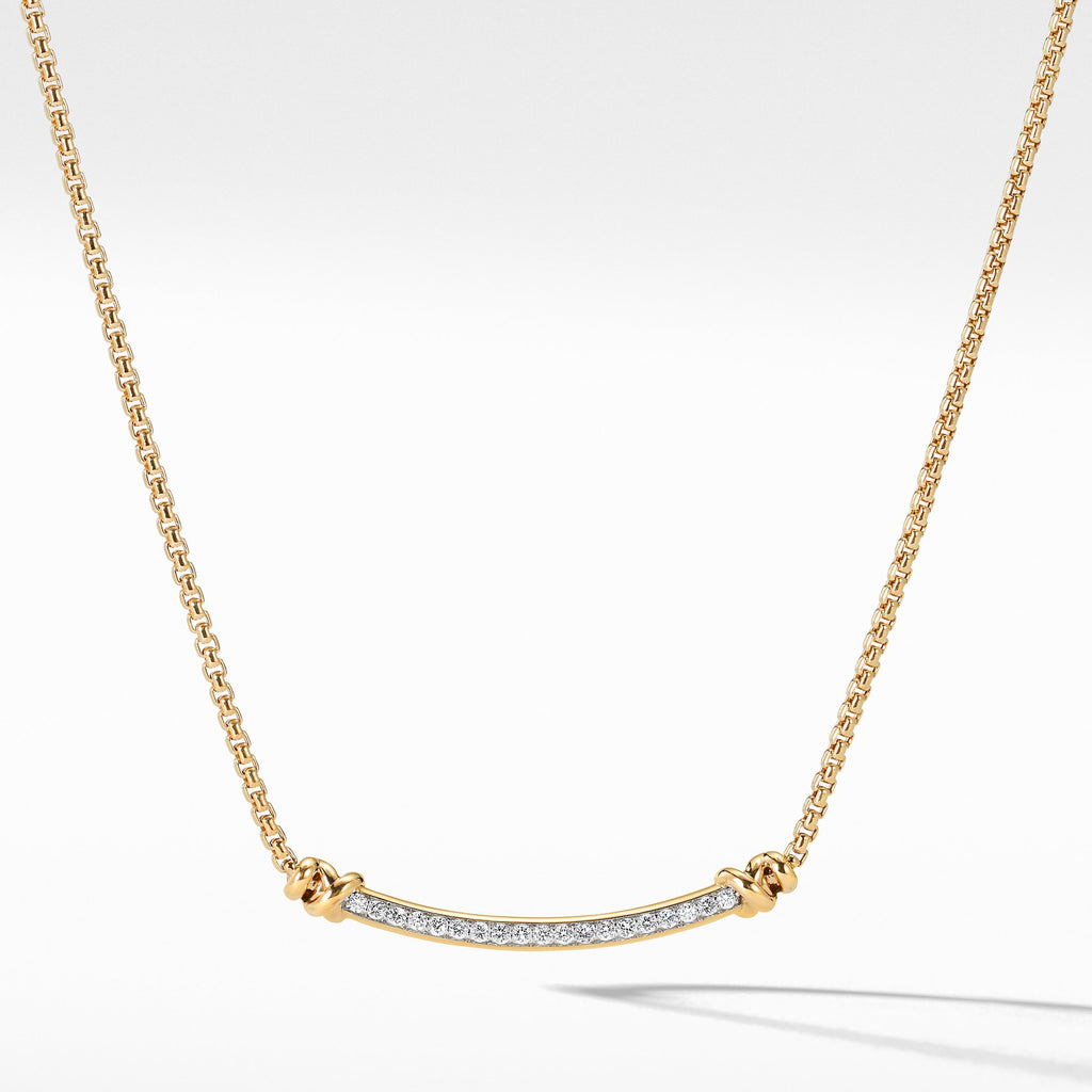 Petite Helena Station Necklace in 18K Yellow Gold with Diamonds