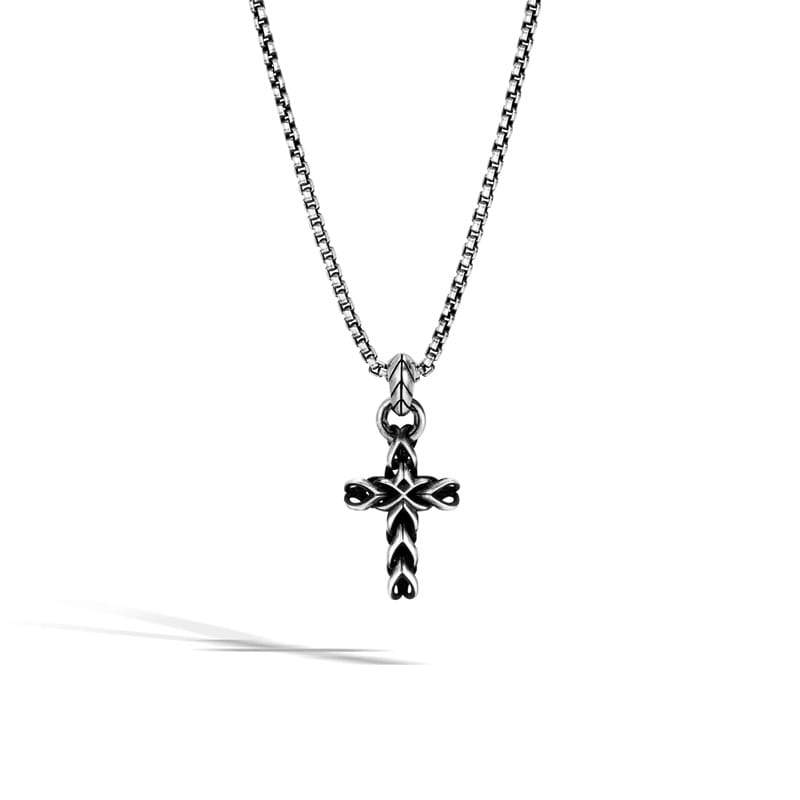 John Hardy Asli Classic Chain Link Cross Pendant Necklace