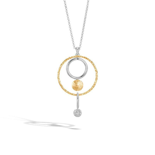 John Hardy Dot Collection Hammered Pendant Necklace