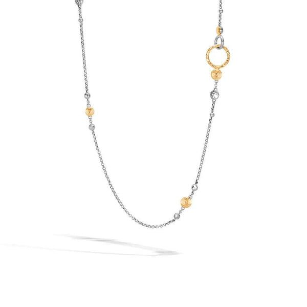 John Hardy Dot Collection Hammered Station Necklace, 36 inches