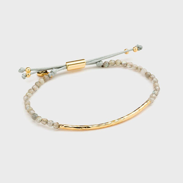 Power Gemstone Bracelet for Balance, Gold/Labradorite