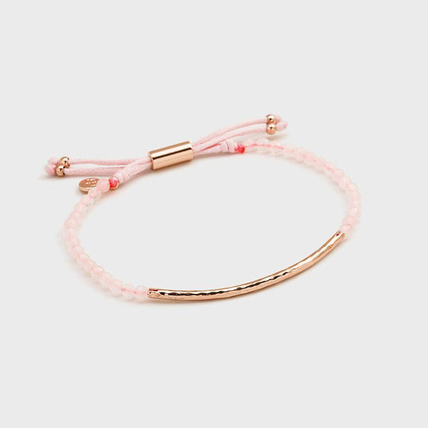 Power Gemstone Bracelet for Love, Rose Gold/Rose Quartz