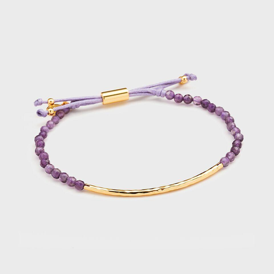 Power Gemstone Bracelet for Tranquility, Gold/Amethyst