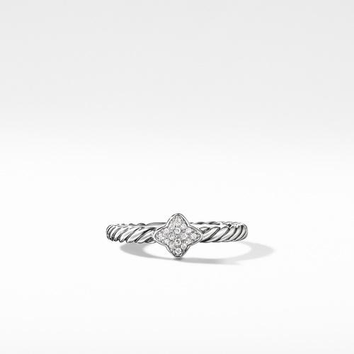 Quatrefoil Ring with Diamonds