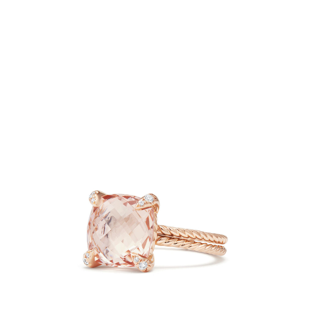 Chatelaine® Ring with Morganite and Diamonds in 18K Rose Gold
