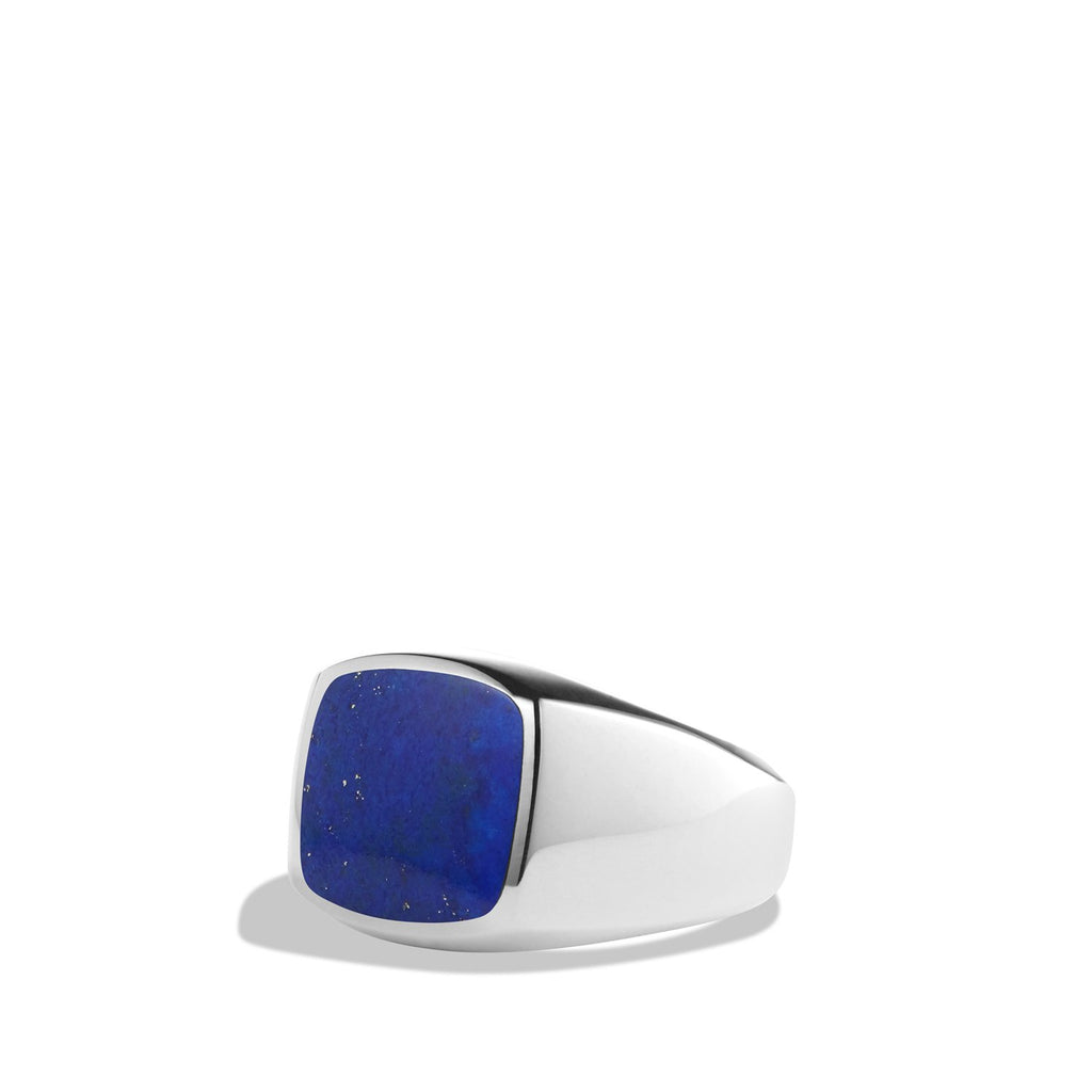 Exotic Stone Ring with Lapis Lazuli in Silver, 12mm