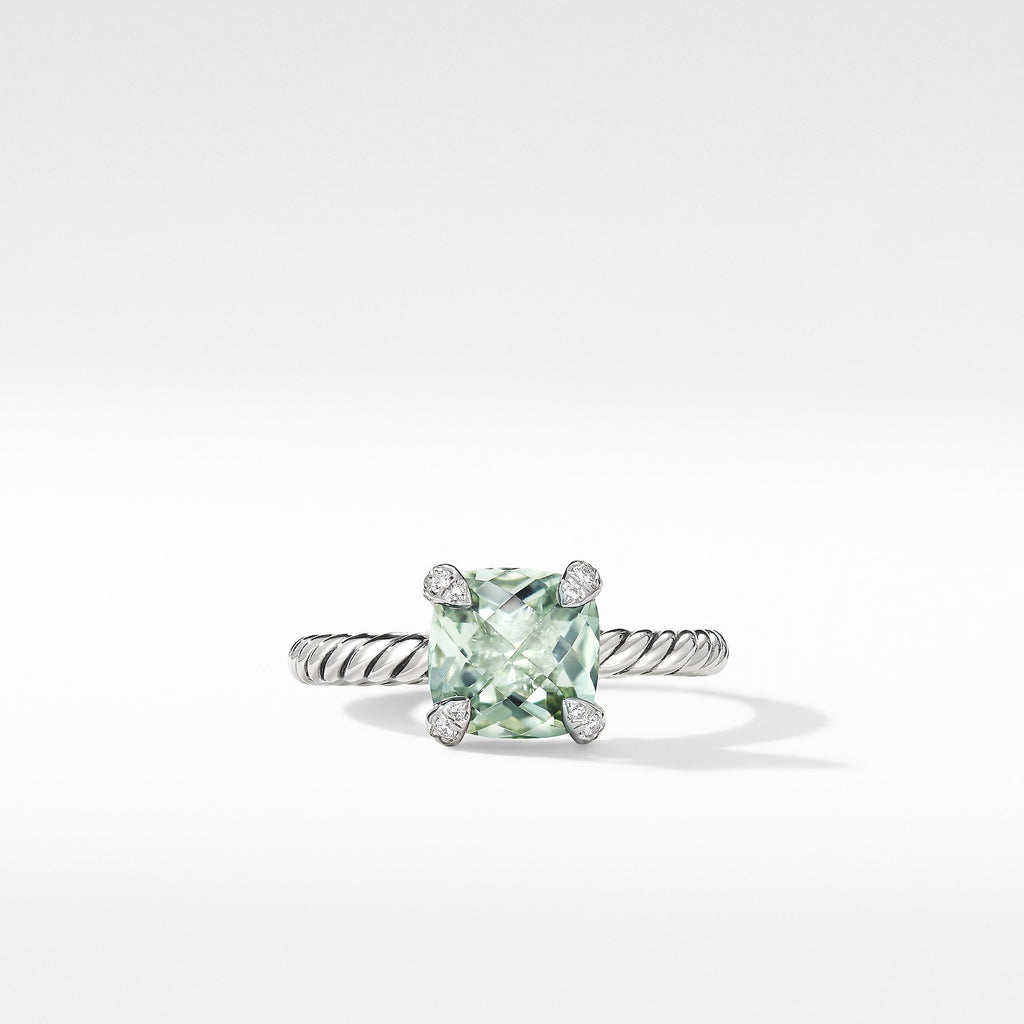 The Châtelaine® Collection Ring with Prasiolite and Diamonds