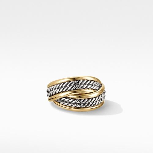 DY Origami Ring with 18K Yellow Gold