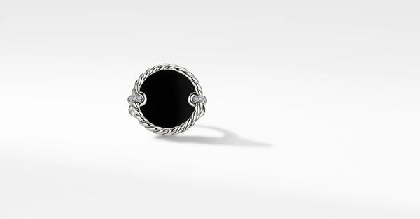 DY Elements® Ring with Black Onyx and Pavé Diamonds