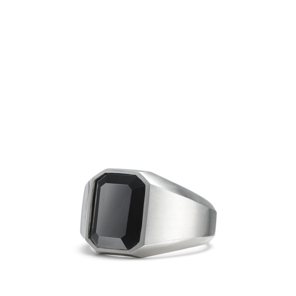 Streamline Signet Ring with Black Onyx