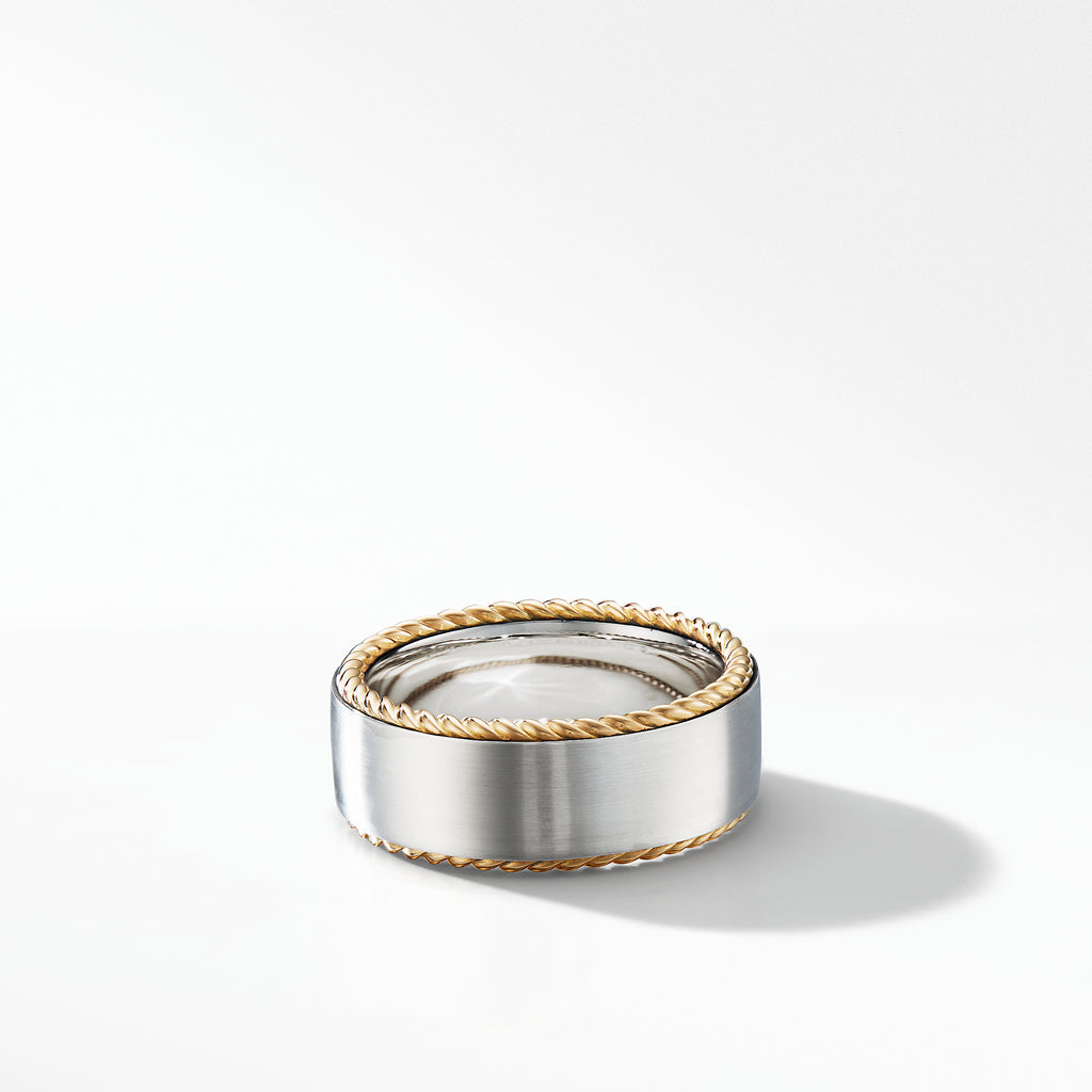 Streamline® Cable Band Ring with 18K Yellow Gold