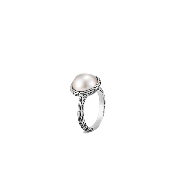 John Hardy Classic Chain Ring with Mabe Freshwater Pearl