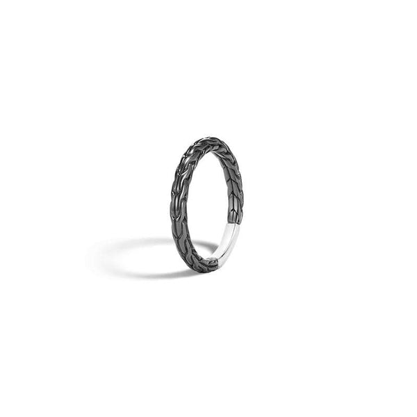 John Hardy Classic Chain Blackened Band Ring
