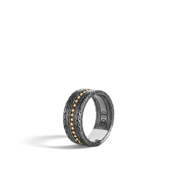 John Hardy Jawan Blackened Band Ring