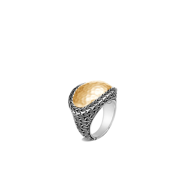 John Hardy Classic Chain Hammered Ring