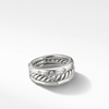 Stax Narrow Ring with Diamonds, 9mm