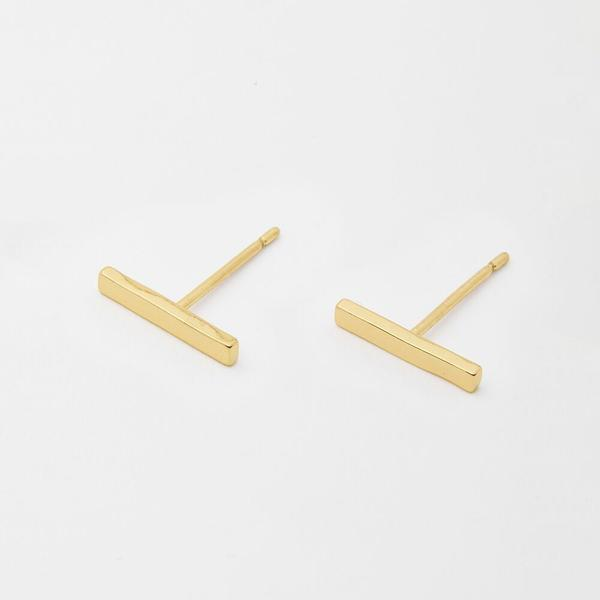 Taner Bar Mini Studs, Gold