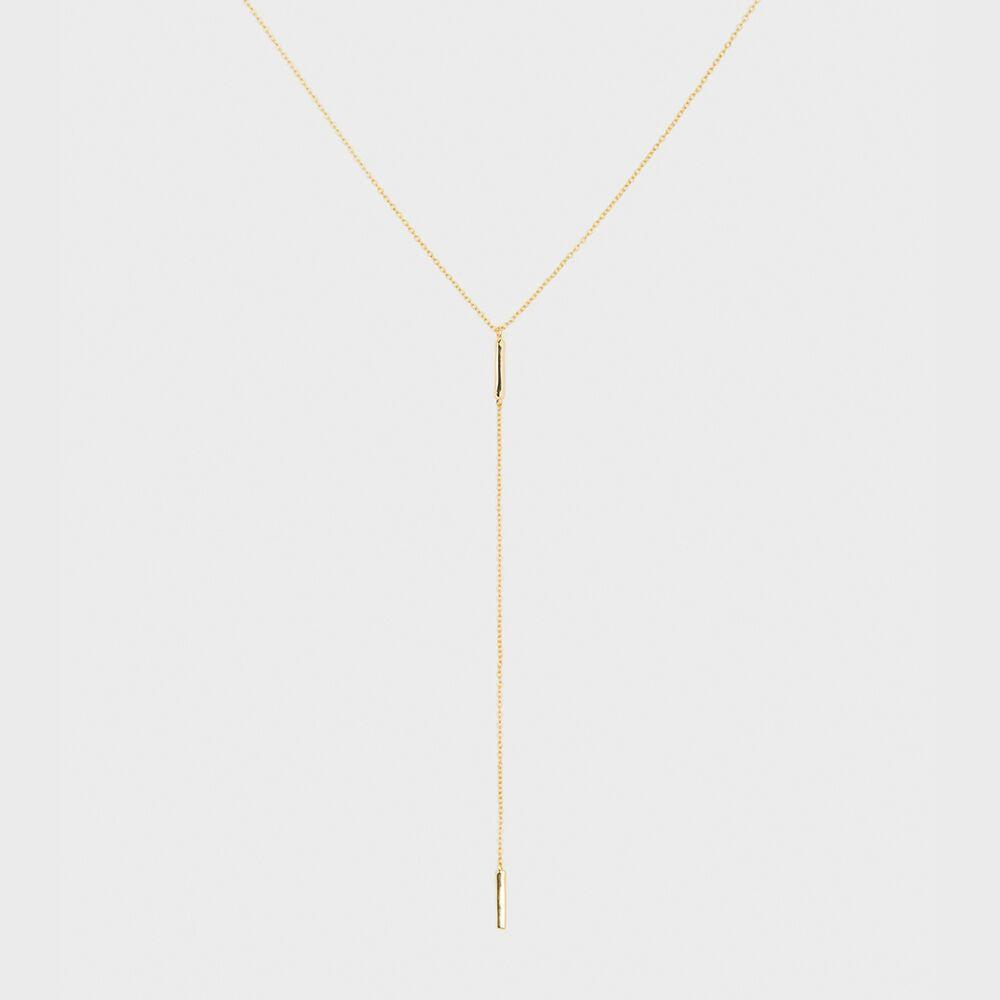 Taner Bar Short Lariat, Gold