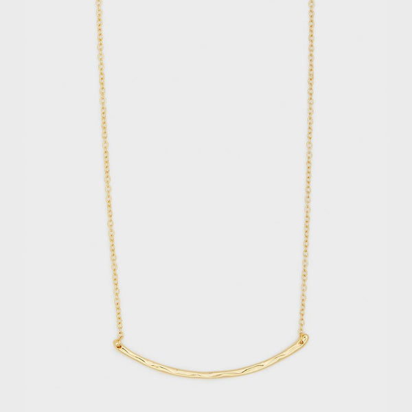 Taner Bar Small Necklace, Gold