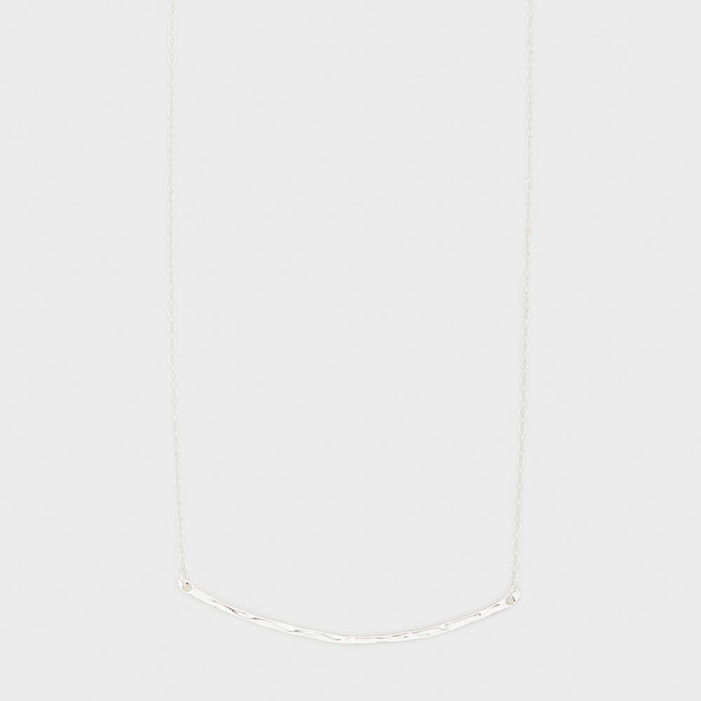 Taner Bar Small Necklace, Silver