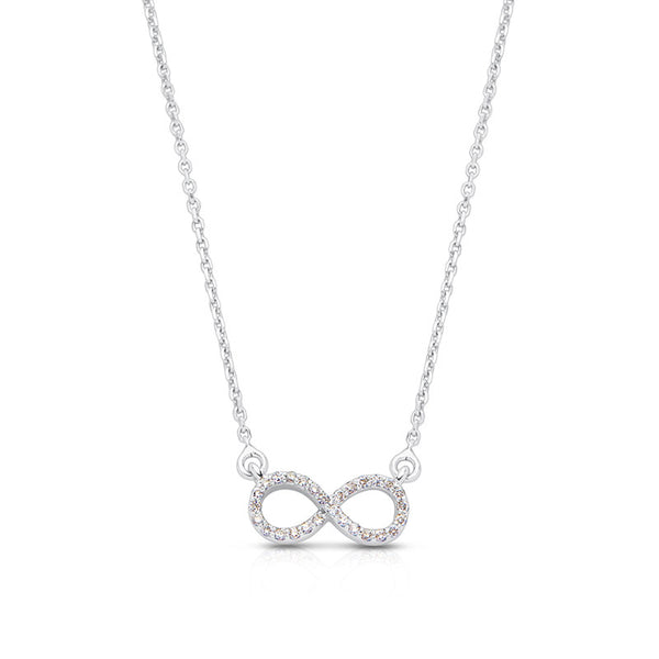 Diamond Infinity Necklace White Gold