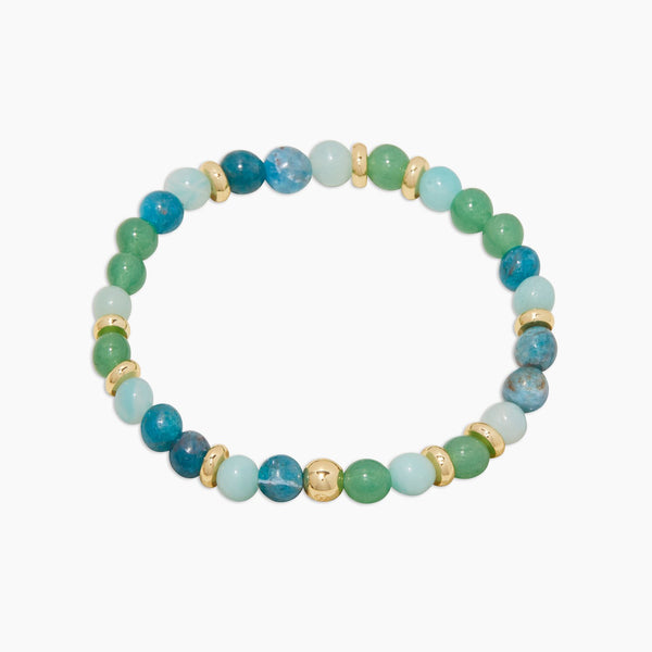 Power Gemstone Mantra Bracelet for Passion