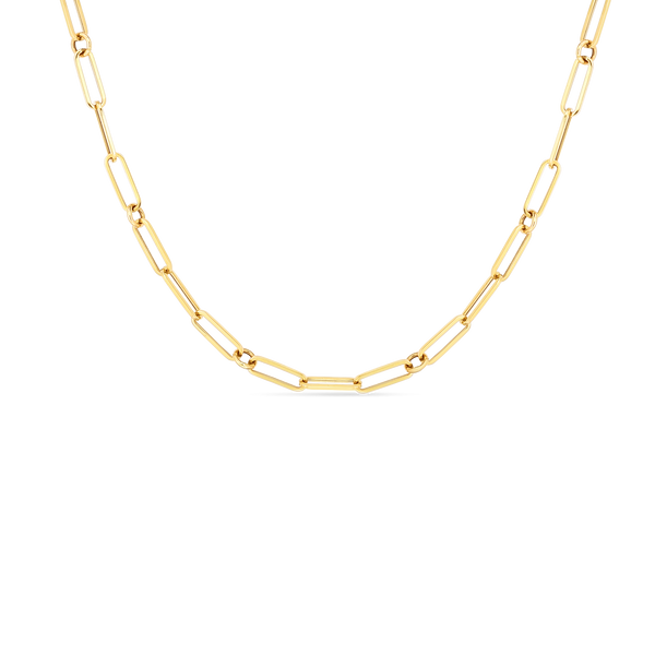 Roberto Coin 18K Yellow Gold Paper Clip Chain Necklace