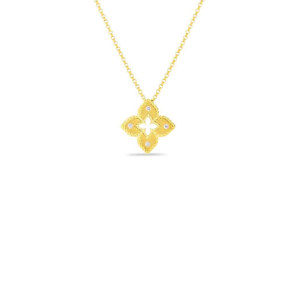 Roberto Coin 18K Yellow Gold Petite Venetian Princess Flower Necklace