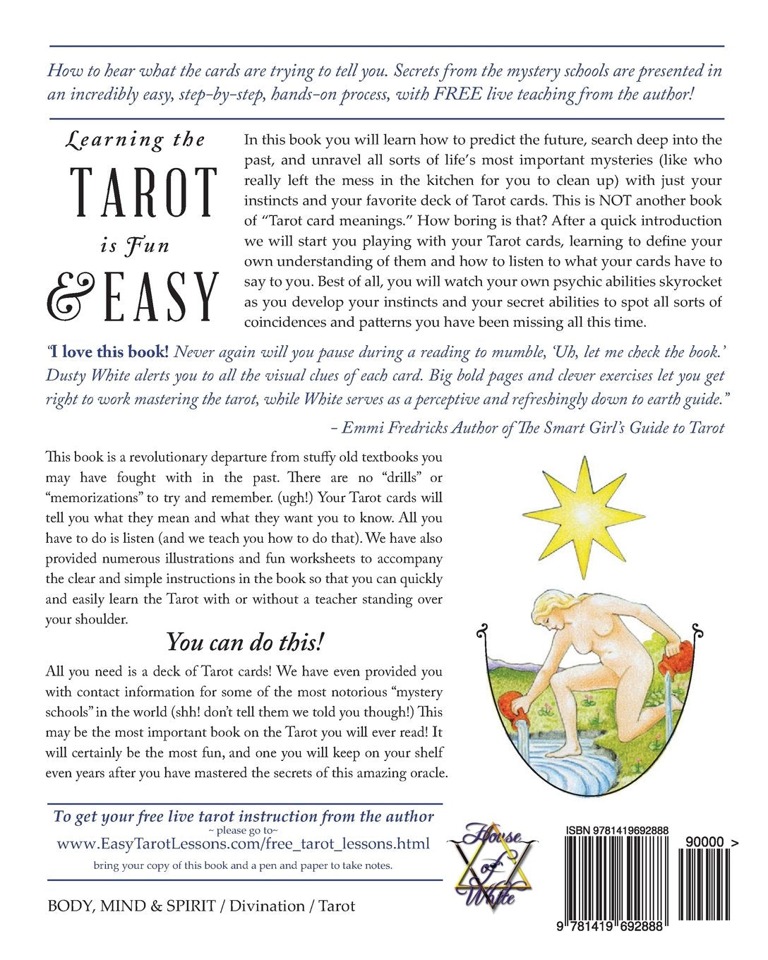 The Easiest Way to Learn the Tarot—EVER!! Paperback Book