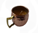 Copper Beer Beeswax Mug Candle