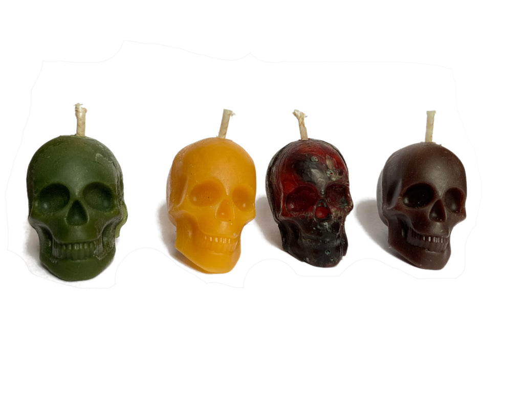 Beeswax Skull Candles (Small)
