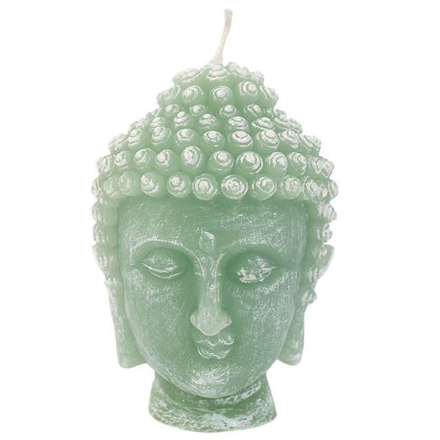 Green Buddha Head Candle