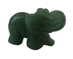Green Jade Crystal Elephant