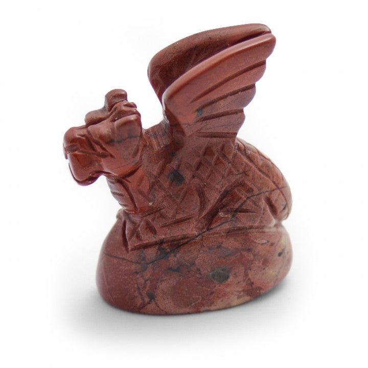 Hand Carved Red Jasper Dragon