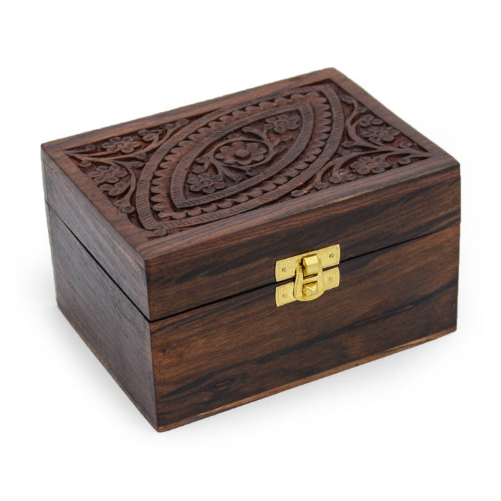 Medium Wooden Essential Oil Box (For 12 bottles)
