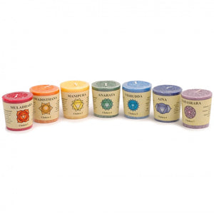 7 Chakra Candle Set (with Essential Oils)