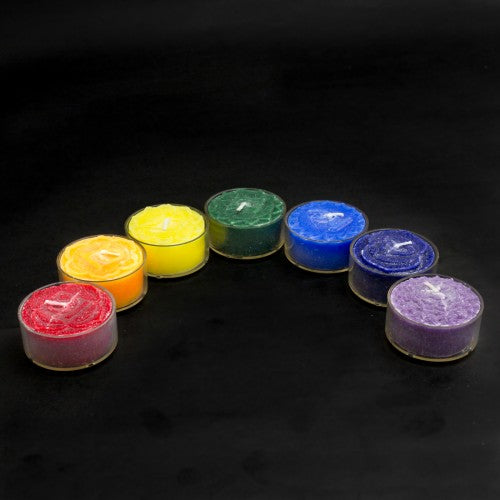 Scented Chakra Tea Light Candles (Set of 7)