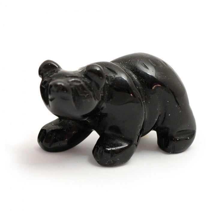 Hand Carved Black Onyx Bear