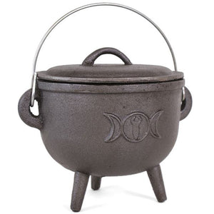 Triple Moon Cast Iron Cauldron (Large)