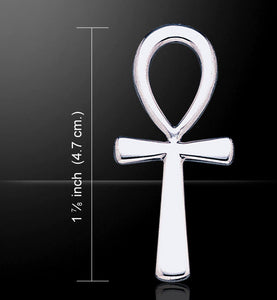 Large Polished Ankh Pendant (Sterling Silver)