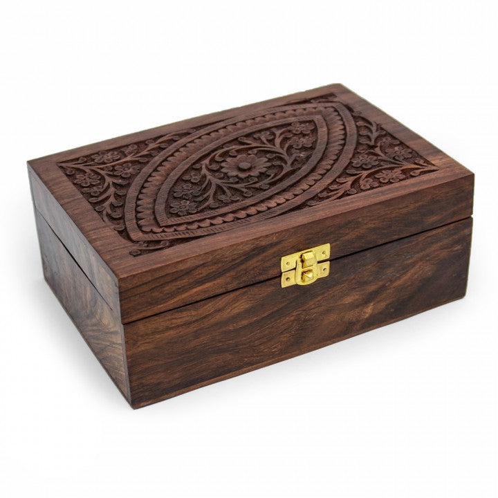 Large Wooden Essential Oil Box (For 24 bottles)