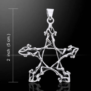 Star Dancers Pentagram Pendant (Sterling Silver)