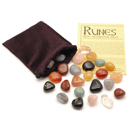 Crystal Rune Stones - Mixed Crystals