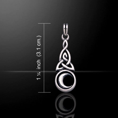Celtic Moon Pendant (Sterling Silver)