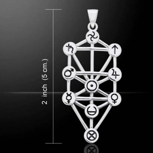 Tree Of Life (Kabbalah) Pendant (Sterling Silver)