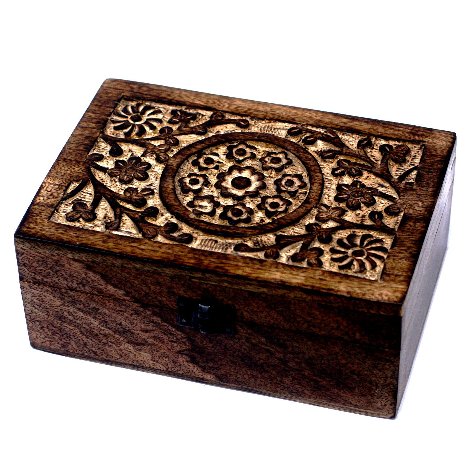 Large Mango Essential Oil Box - Floral Design (holds 24)